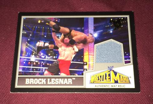 Brock Lesnar Wrestlemania 29 Event used Mat Relic - WWE Wrestling Card