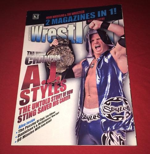 The Wrestler, Inside Wrestling Double Issue, Vol 31, 2010 -AJ Styles, Cena, Rock
