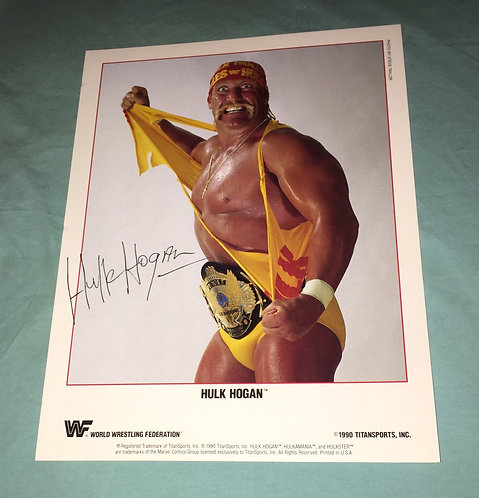 Hulk Hogan WWF/WWE Promo Photo (1990)