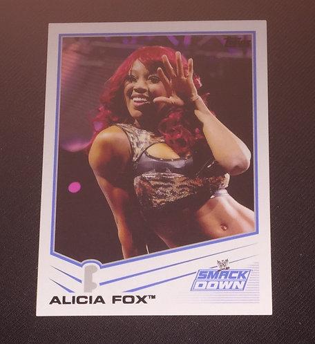 Alicia Fox WWE Wrestling Trading Card