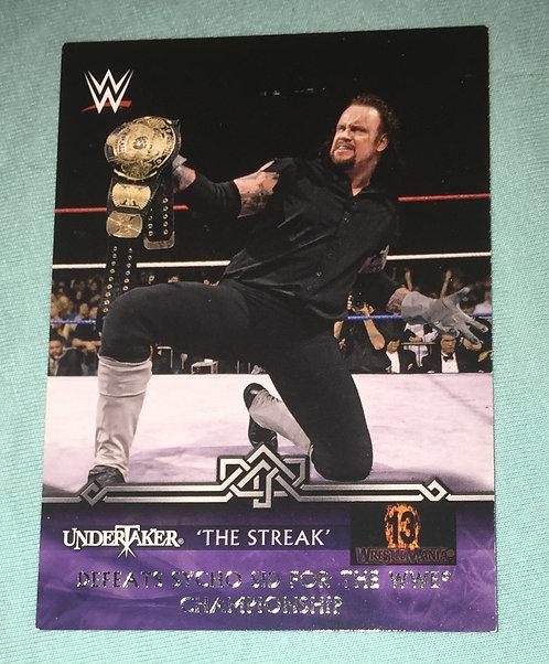 Undertaker wins World Title - WWE Wrestling Trading Card