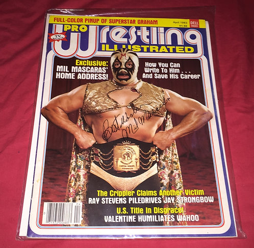 Mil Mascaras Autographed Pro Wrestling Illustrated Magazine
