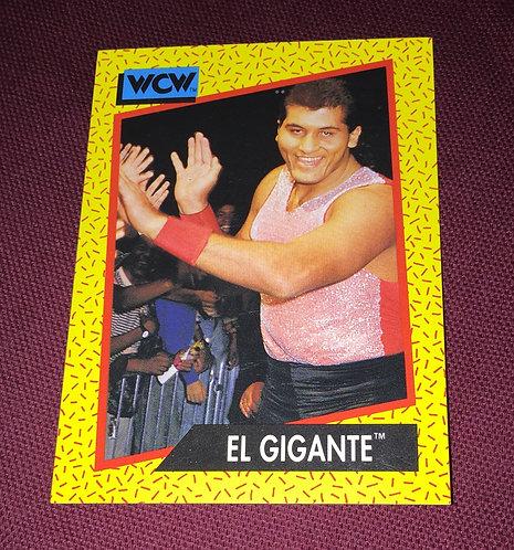 El Gigante WCW Wrestling Trading Card