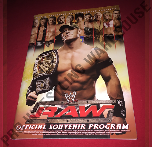WWE Live Events Official Program - John Cena,Rey Mysterio,RAW,Smackdown,2-Sided