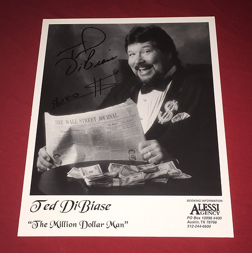 Ted Dibiase Autographed 8x10 Promo Photo