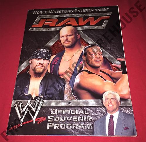 WWE Live Event Program - RAW, SmackDown, Bad Blood 2003 Line up Sheet,Houston,TX
