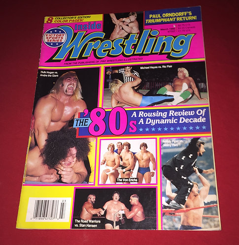 Inside Wrestling March 1990 - Review of the 1980's
