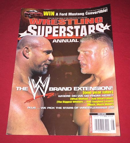 Wrestling Superstars Annual Magazine 2003 Edition - Goldberg, Brock Lesnar