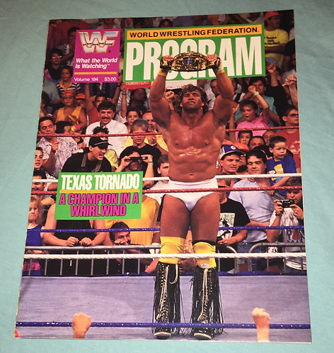 "WWF/WWE Wrestling Program #184, Kerry Von Erich ""Texas Tornado, with line up!"