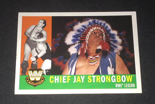 Chief Jay Strongbow WWE Legends Wrestling Trading Card