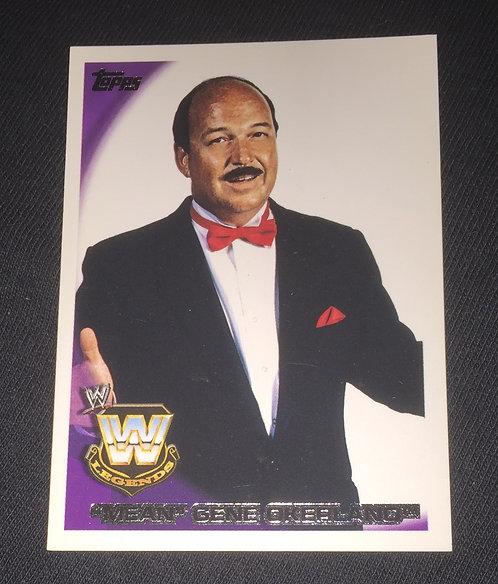 Mean Gene Okerlund WWE Wrestling Trading Card