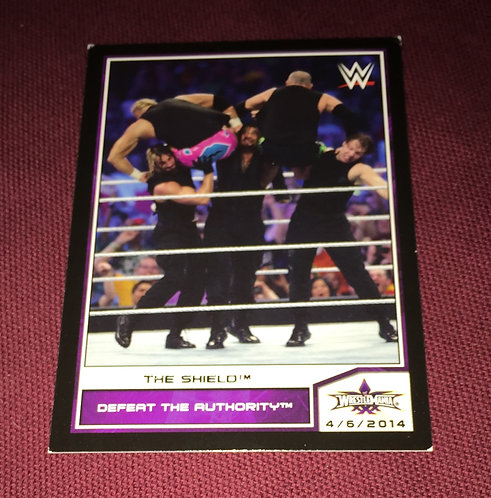 The Shield WWE Wrestlemania Wrestling Trading Card