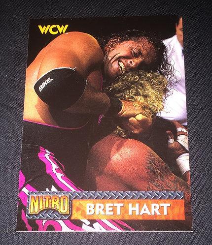 "Bret ""HitMan"" Hart WCW Nitro Wrestling Trading Card"