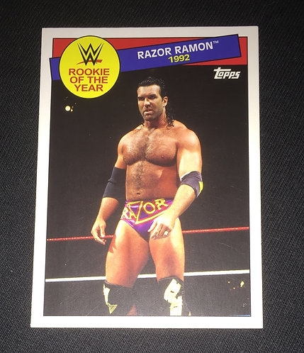 "Razor Ramon ""Rookie of the Year 1992"", WWE Wrestling Trading Card"