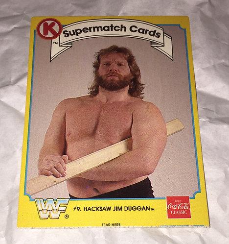 """Hackaw"" Jim Duggan WWF/WWE Circle K Wrestling Trading Card"