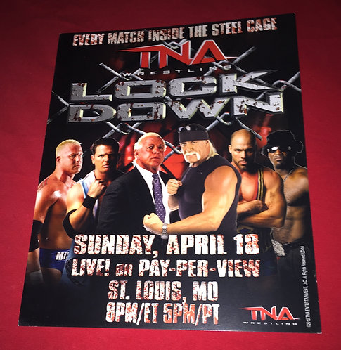 "TNA ""LockDown"" PPV 8x10 Promo Photo - Hogan, Flair, AJ Styles, Angle, etc"