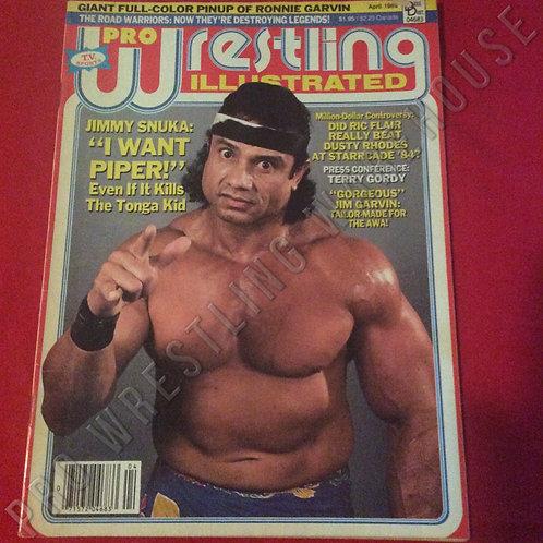 Pro Wrestling Illustrated - April 1986