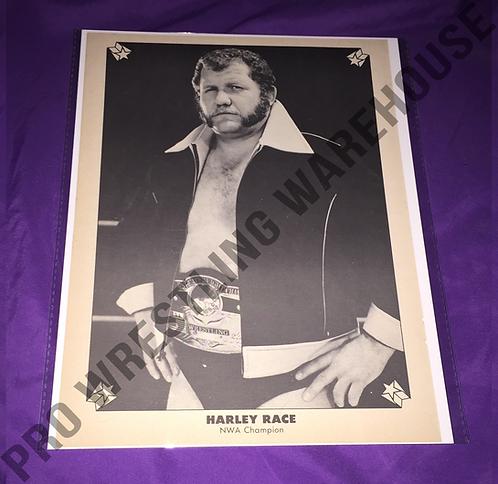 Harley Race Vintage Wrestling Pin-Up, NWA Belt
