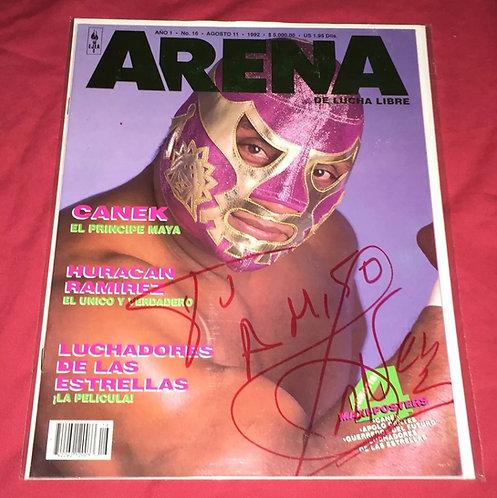 El Canek Autographed Arena Lucha Libre Wrestling Magazine - August 1992