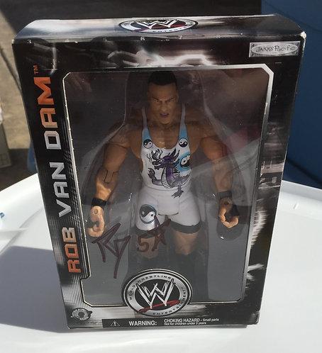 Rob Van Dam Autographed WWE Jakks Wrestling Figure - Limited