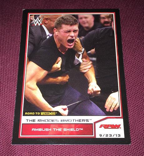 Cody Rhodes WWE Wrestling Trading Card