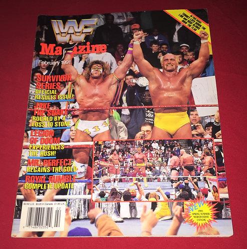 WWF/WWE Magazine February 1991 - Hulk Hogan & Ultimate Warrior