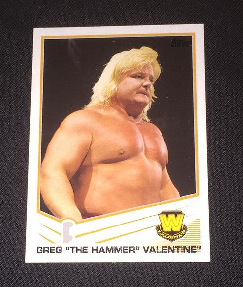 "Greg ""The Hammer"" Valentine WWE Wrestling Trading Card"