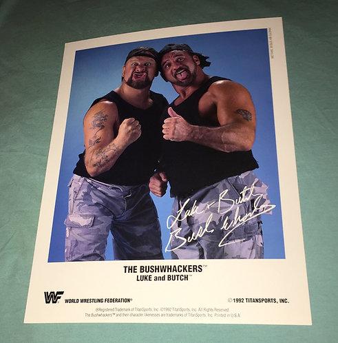 Bushwhackers WWF/WWE Promo Photo (1992)