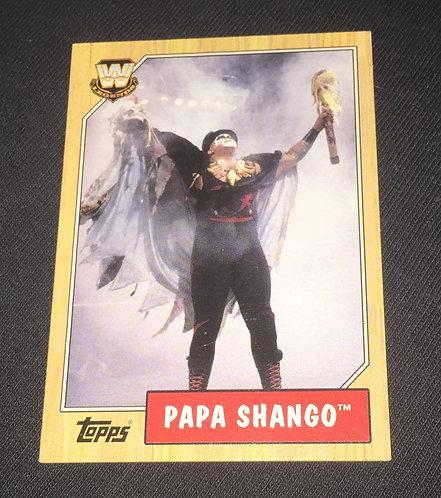 Papa Shango WWE Legends Wrestling Trading Card