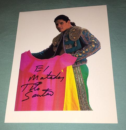"""""""El Matador"""" Tito Santana Autographed Photo"""