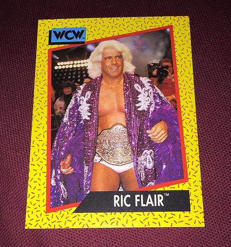 Ric Flair (Purple Robe with Belt) WCW Wrestling Trading Card