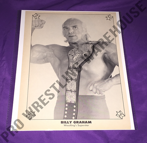 """SuperStar"" Billy Graham Vintage Wrestling Pin-Up, WWWF Belt"