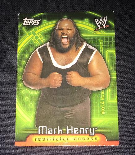 Mark Henry WWE Wrestling Trading Card