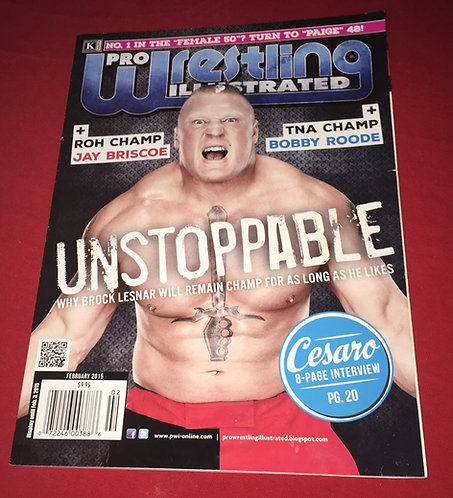 Pro Wrestling Illustrated February 2015 - Brock Lesnar