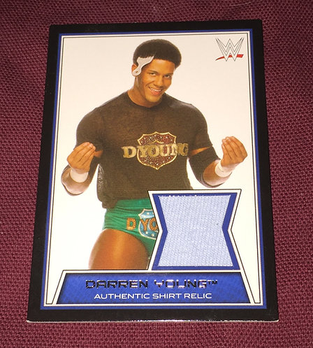 Darren Young Event Worn Shirt Relic - WWE Wrestling Card