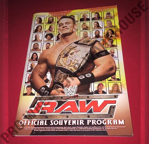 WWE Official Live Events Program - RAW,Smackdown,John Cena,Batista