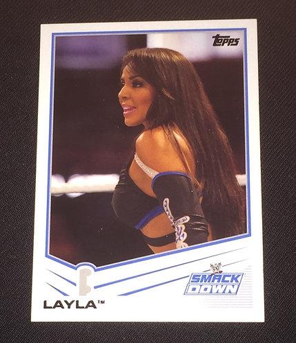 Layla WWE Wrestling Trading Card - Smackdown