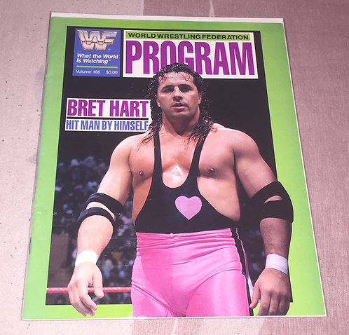 "WWF/WWE Program #???? - Bret ""Hitman"" Hart"