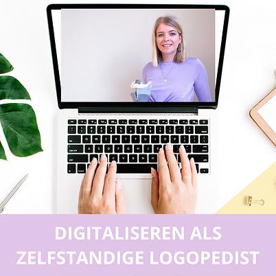 Digitaliseren als zelfstandige logopedist
