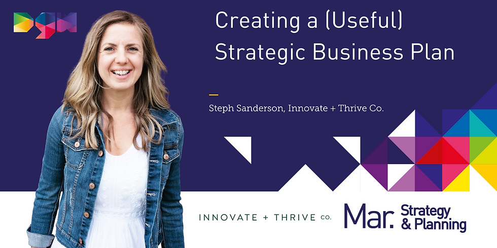 Creating a Strategic Business Plan with Steph Sanderson