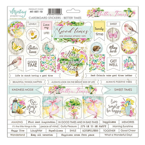 Better Times cardstock sticker sheet