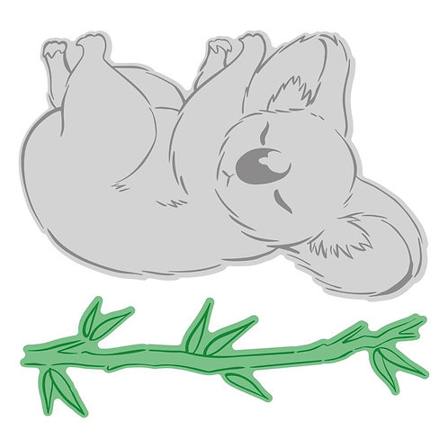 Sweeping Plains Mini Koala die and stamp