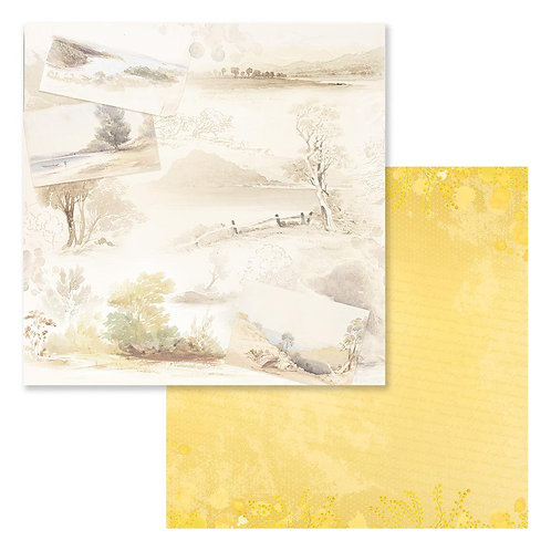 """Sweeping Plains CO727973 12"""" double side paper"""