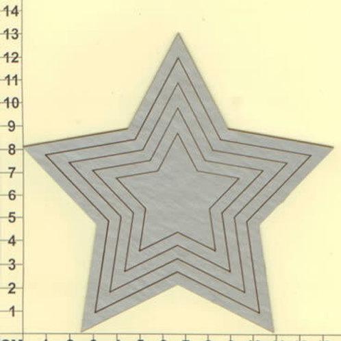 Scrapmatts - Nested Stars