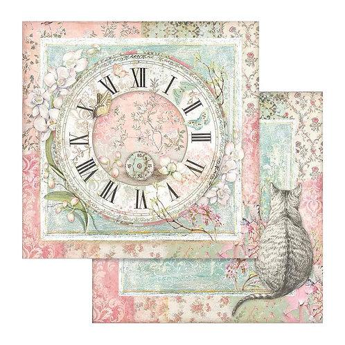Clock & Cat, Orchids & Cats SBB753