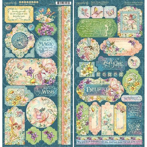 Fairie Wings cardstock stickers