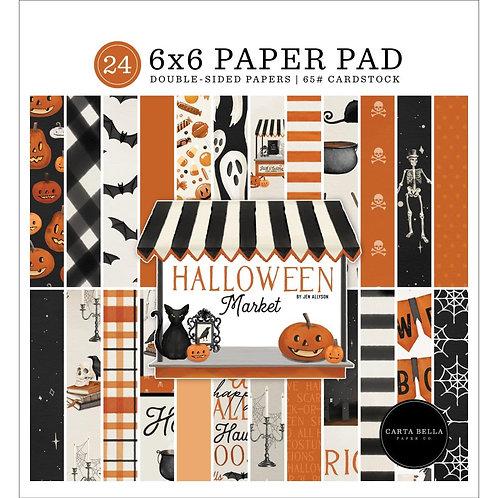 """Halloween Market 6"""" paper pad"""