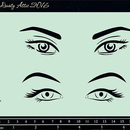 Dusty Attic-Eyes Stencil