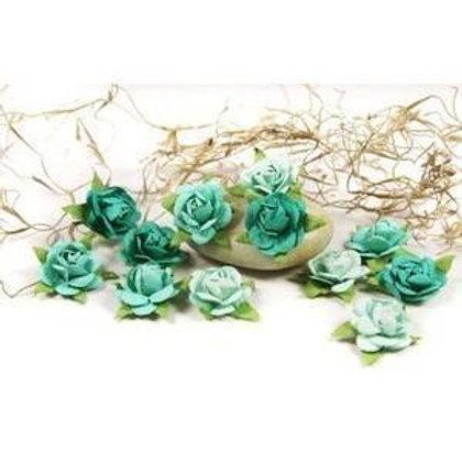 Prima Flowers Fairytale Roses teal