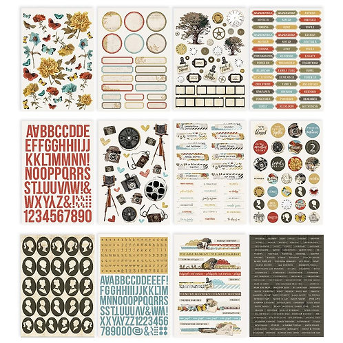 Simple Vintage Ancestry Sticker Book